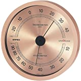 エンペックス気象計 温度湿度計 スーパーEX 温湿度計 壁掛け用 日本製 シャンパンゴールド EX-2728