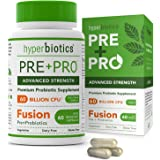 Hyperbiotics PRE-PRO Advanced Strength: Premium Prebiotic and Probiotic 60 Billion CFU Formulation -60 Capsules with 15x More