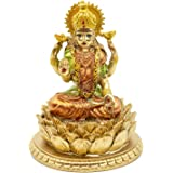 BangBangDa Hindu Goddess Laxmi Statue Sculpture – Indian God Lord Mather Lakshmi Puja Statue - India Pooja Item Murti Idol Fi