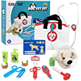 Click N' Play Pretend Play Pet Examine and Treat Vet Veterinary Doctor Play Set for Animal Pets Dogs 16 Pieces