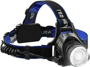 genhaopi LEDヘッドライト 高輝度 Toshiba製LED ヘッドランプ 防水 夜釣り 登山 キャンプ ズーム機能付き
