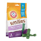 Arm & Hammer Brushies Dental Treats for Dogs | Dental Chews Fight Bad Breath, Plaque & Tartar without Brushing | Mint Flavor,