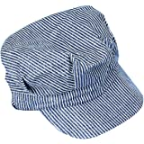 U.S. Toy Engineer Hat - Blue and White Stripes