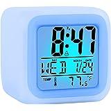 ZALIK Alarm Clock Kids Wake Up Easy Setting Digital Travel for Boys Girls, Large Display Time/Date/Alarm with Snooze, Bedside