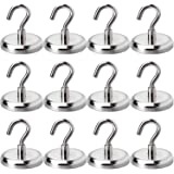 Heavy Duty Magnetic Hooks, Strong Neodymium Magnet Hook for Home, Kitchen, Workplace, Office and Garage, Hold up to 100 Pound