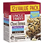 UNCLE TOBYS Muesli Bars Chewy Choc Faves Muesli Bars, 12 Bars Value Pack, 12 x 375 g