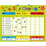 """Magnetic Reward / Star / Responsibility / Behavior Chart for up to 3 Children. Rigid Board 16"""" x 13"""" (40 x 32cm) with Hanging"""