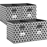 Cube Storage Bins 13x13 - Flodable Box Baskets Containers Organizer for Drawers,Home Closet, Shelf,Nursery, Cabinet, with Dua