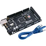 (Black) - MEGA 2560 R3 Board ATmega2560 ATMEGA16U2 with USB Cable Compatible and Arduino