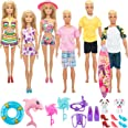 SOTOGO 29 Pieces Doll Clothes and Accessories for 11.5 Inch Girl Boy Doll Hot Waves Playset Include 6 Sets of Handmade Bikini