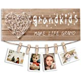 Gifts for Grandma & Grandpa from Grandchildren, Grandkids Make Life Grand Photo Holder, Best Christmas or Birthday Gifts for