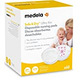 Medela Safe and Dry Ultra Thin Disposable Nursing Pads 60-Pack, , White, , 60 Count