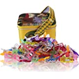 MumCraft Multipurpose Sewing Clips with Tin Box Package Assorted Colors Pack of 100