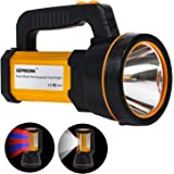 Heavy Duty Led Torch USB Rechargeable Super Bright Hand held Spotlight Flashlight High Power Big Powerful Searchlight Torch L