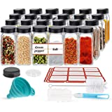 24PCS Glass Spice Jars, Small Items Storage and Organization, Glass Mason Jars with Lids, Seasoning Containers, Spice Organiz