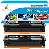 True Image Compatible Toner Cartridge Replacement for HP 201X CF400X 201A CF400A M252 Color Laserjet Pro MFP M277dw M277 M277