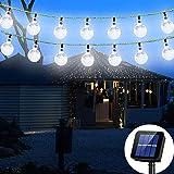 Solar String Light 8 MODEL 20 ft 30LED Globe Outdoor String Light Lighting for Indoor Christmas Home Patio Lawn Garden Weddin
