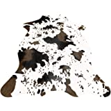 IMQOQ Cow Print Faux Cowhide Living Bedroom Non-Slip Carpet Rug 3.6x2.5FT (110cmx75cm)