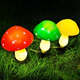 Outdoor Solar Garden Lights, Yard Decorations Mushroom -1Pack 3 Mushroom