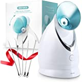 Facial Steamer-Nano Ionic Face Steamer for Home Facial, Unclogs Pores, Warm Mist Humidifier Atomizer, Humidifier Moisturizing