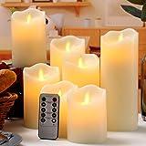 "qinxiang Flameless Candles,LED Candles, Set of 7 (D:3"" X H:4"" 4"" 5"" 5"" 6"" 7"" 8"") 0.03watts 6.00volts"