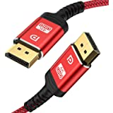 DisplayPort Cable,Capshi 4K DP Cable Nylon Braided -(4K@60Hz, 2K@165Hz, 2K@144Hz) Gold-Plated DP to DP Cable Ultra High Speed