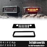 MAKER OFF ROAD ブラックサードリアブレーキライトカバー外側withフレームfor Jeep Wrangler Unlimited JKアクセサリー