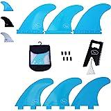 Ho Stevie! Fiberglass Reinforced Polymer Surfboard Fins - Thruster (3 Fins) FCS or Futures Sizes, with Fin Bag, Screws, Wax C