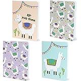 Paper Junkie Llama Mini Notebooks, Party Favors, Journals (12 Pack)
