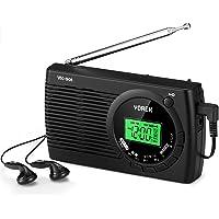 YOREK 高感度ラジオ 小型FM/AM/SWポケットラジオ ワイドFM対応ポータブルラジオ 電池式携帯ラジオ オートオ…