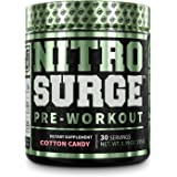 NITROSURGE Pre Workout Supplement - Endless Energy, Instant Strength Gains, Clear Focus, Intense Pumps - Nitric Oxide Booster
