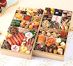 (12月30日着) 京菜味のむら おせち「朱雀」四段重 52品