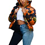 KANSOON Women's Down Jacket- Shiny PU Leather Zipper Front Quilted Short Puffer Coat Outerwear
