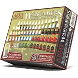 Miniature Painting Kit with 100 Rust-Proof Mixing Balls - Model Paint Set with 60 Non-Toxic Acrylic Paints for Wargamers Mini