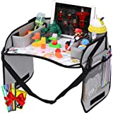 Innokids Kids Travel Lap Tray Children Car Seat Activity Snack and Play Tray Desk with Erasable Surface, iPad & Tablet Holder