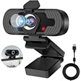 HD Webcam 1080p Web Camera, Eocean Webcam with Microphone & Privacy Cover, Web Cam with Auto Light Correction, Web Camera for