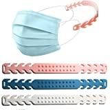 PureRejuva Ear Savers for Masks 3pk (Pink, White, Teal)- Soft, adjustable silicone face mask extenders-Protect your ears, the