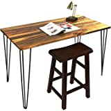 Signstek 28 Three-Rod Hairpin Table Legs Set of 4Vintage Metel for Coffee Tables Modern Desks Night Stands Or Chairs etc