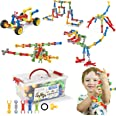 STEM Toys Kids Building Kit, 125 Pcs Educational Learning Set Construction Engineering Building Blocks for Ages 3 4 5 6 7 8 9