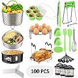 Accessories for Instant Pot, Fungun 120 Pcs Accessories Compatible with 5/6/8Qt Instant Pot-100 Pcs Cake Baking Papers, 2 Ste