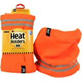 Heat Holders Men's Warm Winter Thermal WRK Neck Warmer and Reflective Stripes