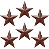 """EcoRise Barn Star - Metal Stars for Outside Texas Stars Art Rustic Vintage Western Country Home Farmhouse Wall Decor (5"""" (Pac"""