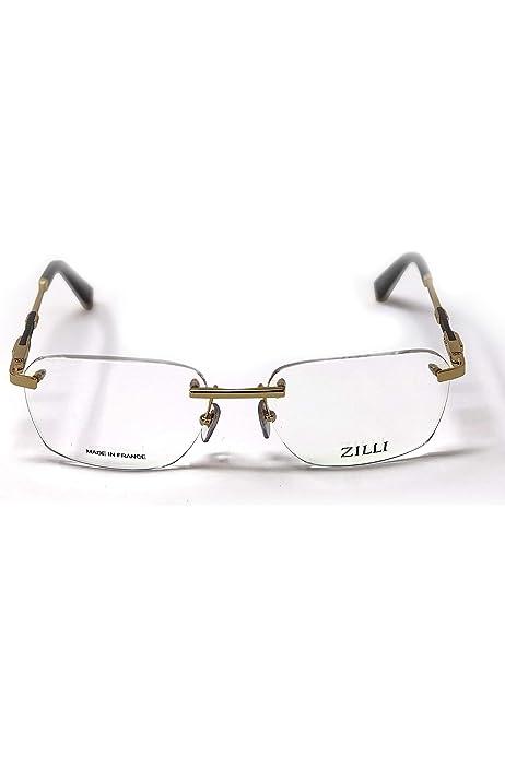 Zilli Designer Rimless Eyeglasses For Men Eyewear Titanium Frame Glasses 60029 Amazon Com Au Fashion