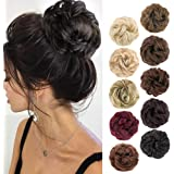 MORICA 1PCS Messy Hair Bun Hair Scrunchies Extension Curly Wavy Messy Synthetic Chignon for women Updo Hairpiece(Color:2#)
