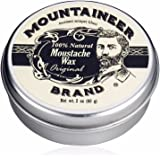 Mountaineer Brand 100 Natural Moustache Wax 60ml TWICE THE SIZE OF MOST