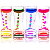 Super Z Outlet Liquid Motion Bubbler for Sensory Play, Fidget Toy, Children Activity, Desk Top, Assorted Colors (4 Pack)