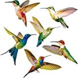 Blulu Hummingbird Window Clings Anti-Collision Window Clings Decals to Prevent Bird Strikes on Window Glass Non Adhesive Viny