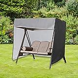 "SHANGXING Outdoor Patio Swing Covers- 86""x 49""x 66"" Waterproof Garden Swing Hammock Glider Cover- Foldable Outdoor Garden Fur"