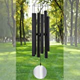 Large Wind Chime Outdoor Deep Tone45 Inch Sympathy Winchimes Outdoor Unique with 6 Tubes Tuned Low ToneAmazing Grace Wind Chi