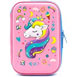 Crown Unicorn Gifts for Girls - Cute Big Size Hardtop Pencil Case with Compartment - Kids School Supply Organizer Stationery